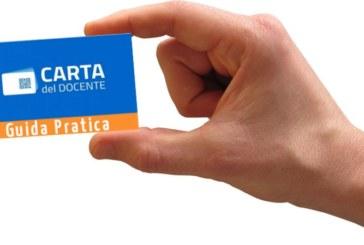 """""""CARTA DEL DOCENTE"""" guida all'uso"""