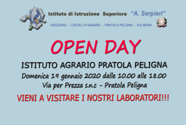 Pratola Peligna: Open day 19 gennaio 2020
